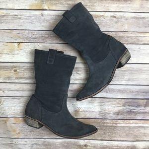 Splendid Gray Suede Pueblo Pull On Boots